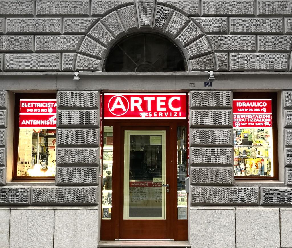 Il Negozio di ARTEC Antennisti in via Ugo Polonio 3/A a Trieste